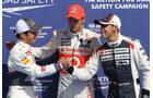 Kobayashi, Button & Maldonado - Formel 1 - GP Belgien - Spa-Francorchamps - 1. September 2012