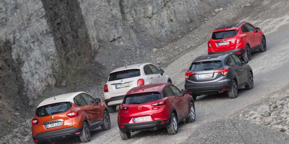 Kompakt-SUV, Auswahl, Testwagen