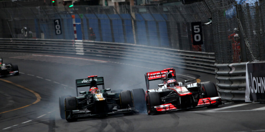 Kovalainen vs. Button - GP Monaco 2012