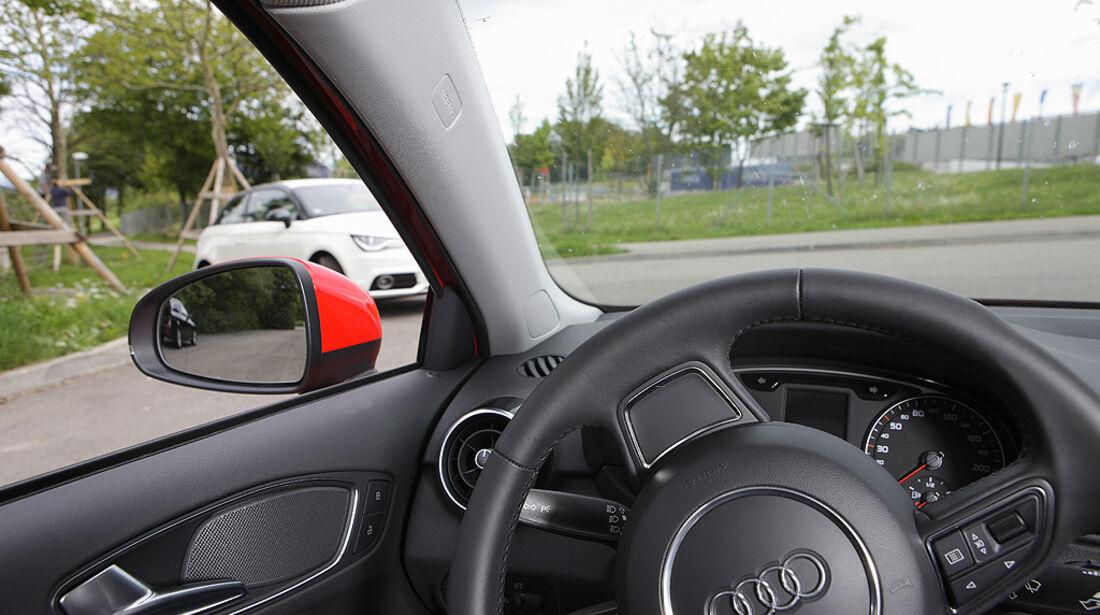 Kurvensicht, Audi A1