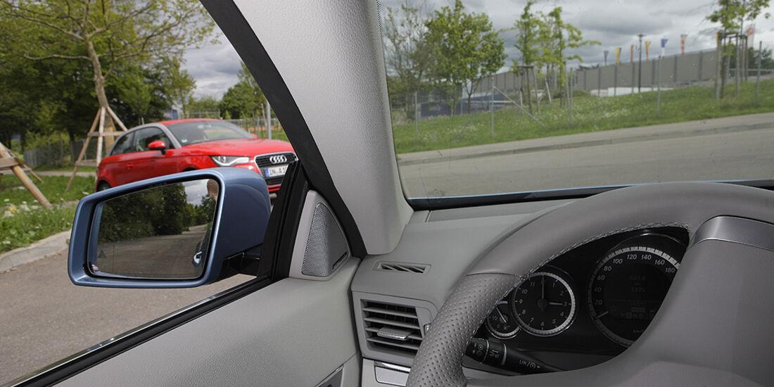 Kurvensicht, Mercedes E-Klasse Cabrio