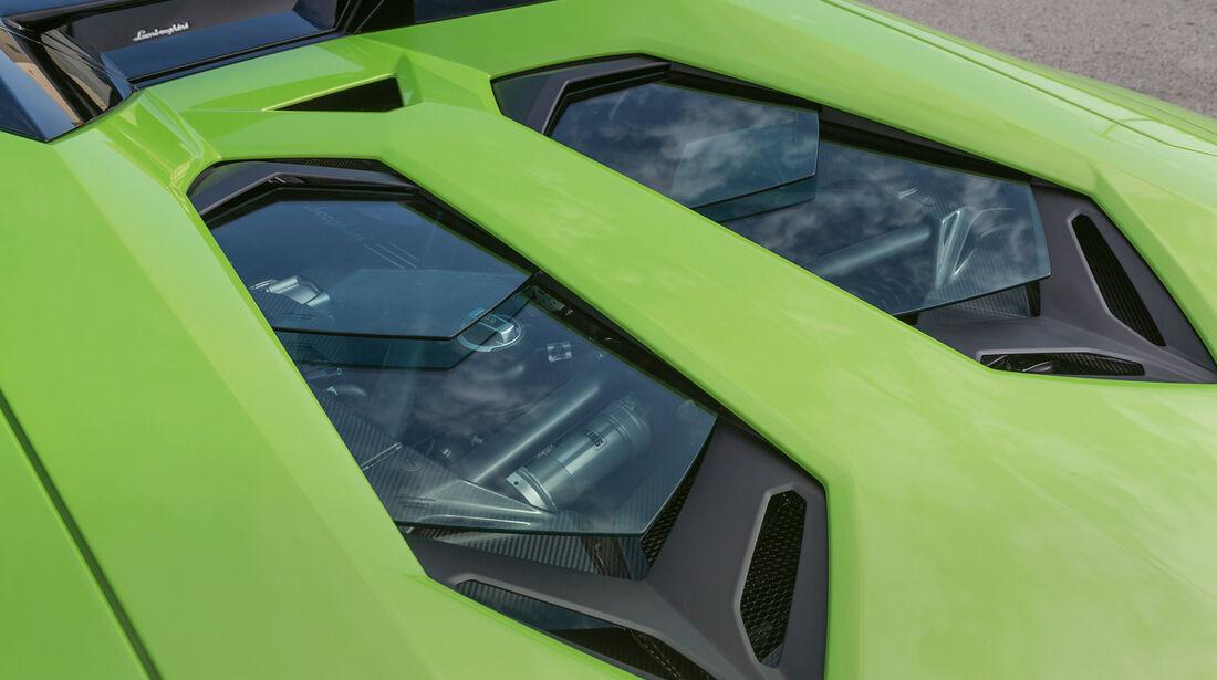 Lamborghini Aventador LP 700-4 Roadster, Motorabdeckung
