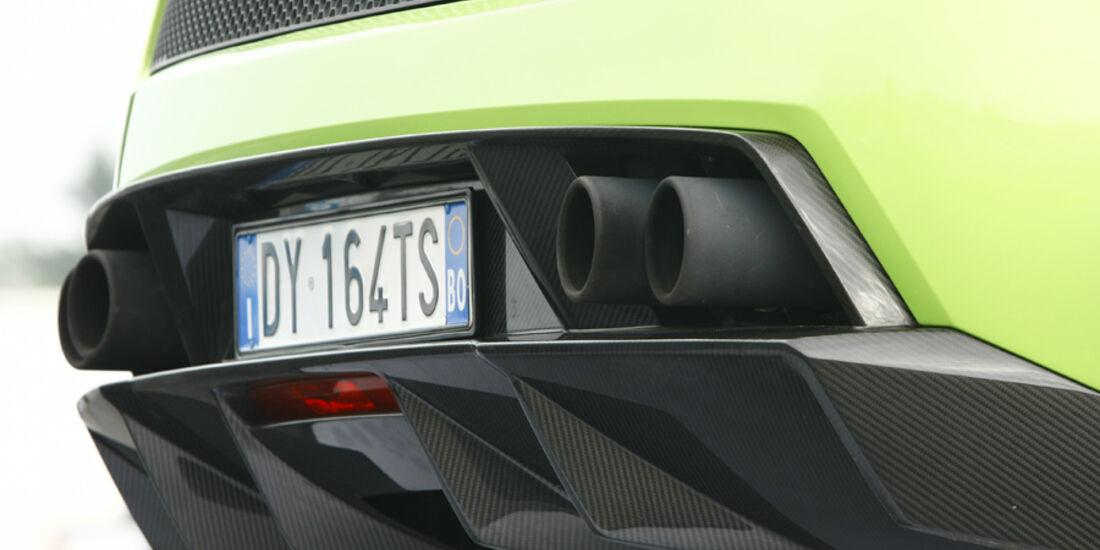 Lamborghini Gallardo LP 570-4 Superleggera, Diffusor, Auspuffanlage