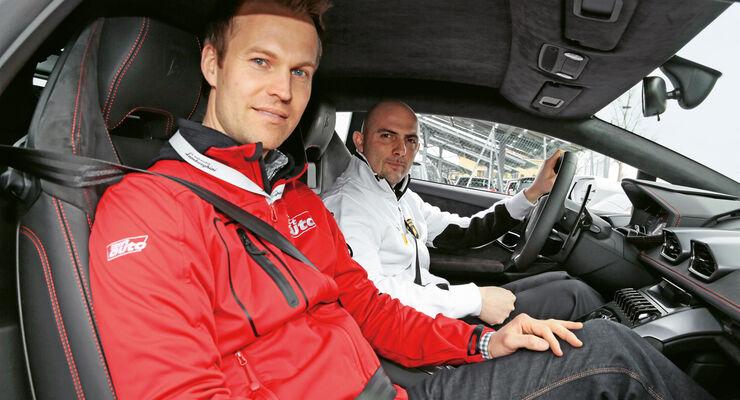 Lamborghini Huracán, Christian Gebhardt, Giorgio Sanna, Cockpit