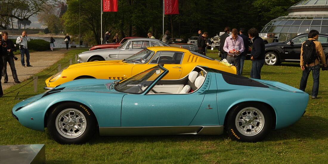 Lamborghini Miura Roadster (1968) - Einzelstück mit Bertone Karosserie bei der Villa Erba Villa d'Este 2010.