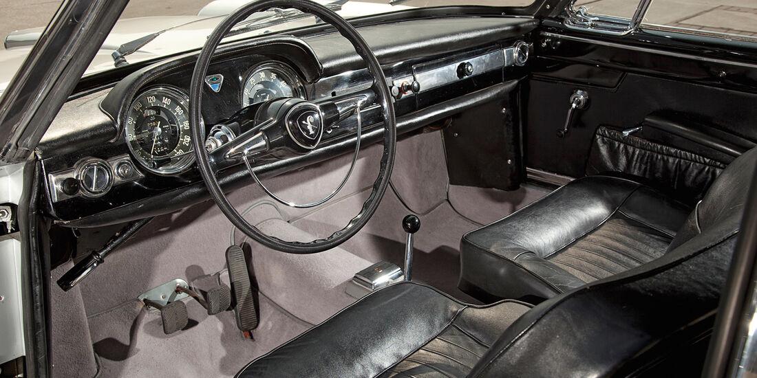 Lancia Flaminia Coupé 3B 2800, Cockpit, Lenkrad