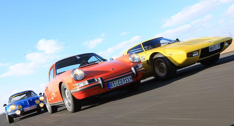 Lancia Stratos HF, Porsche 911 S, Renault Alpine 1600 S