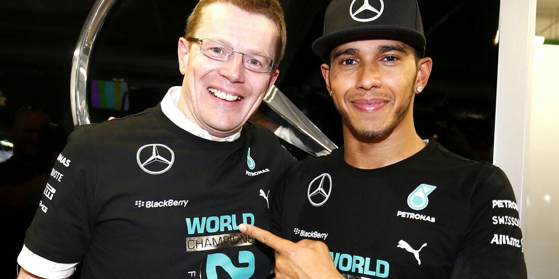 Lewis Hamilton & Andy Cowell - Mercedes - Formel 1 - 2014