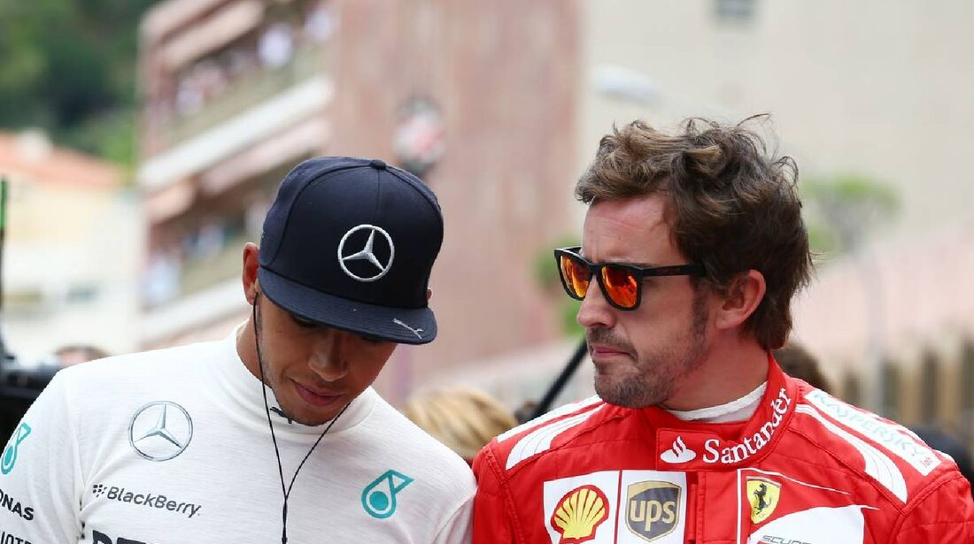 Lewis Hamilton - Mercedes - Fernando Alonso - Ferrari  - Formel 1 - GP Monaco - 25. Mai 2014
