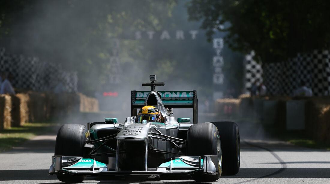 Lewis Hamilton - Mercedes - Goodwood 2013