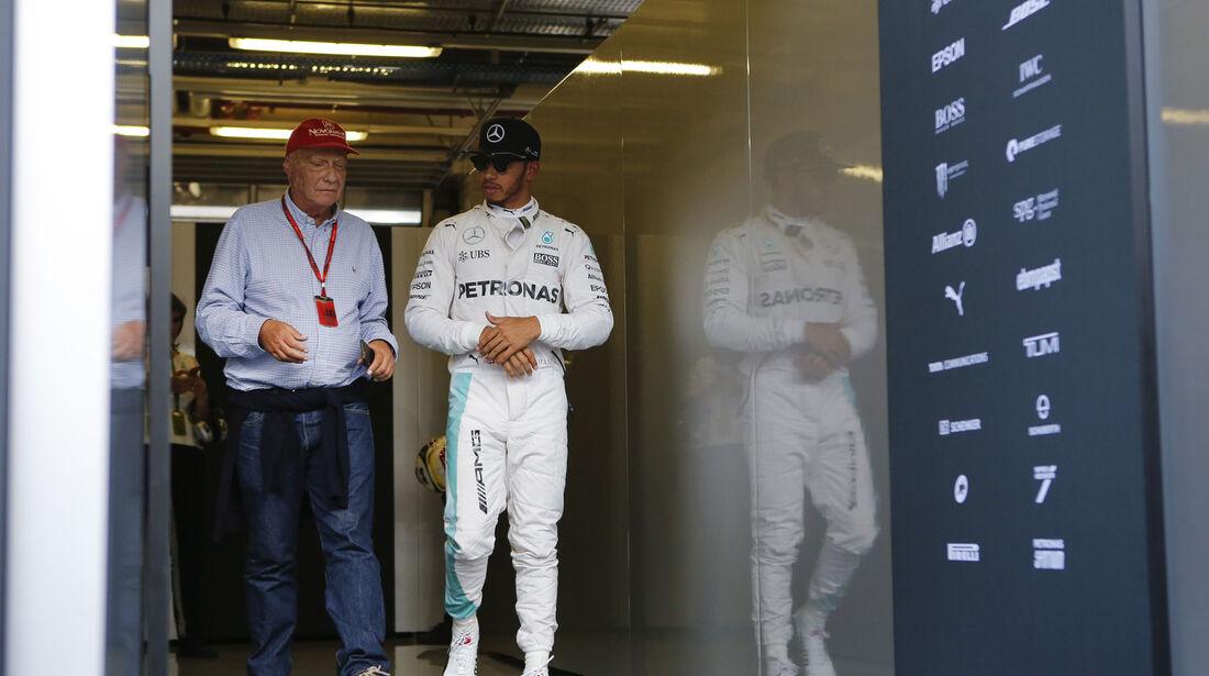 Lewis Hamilton - Niki Lauda  - Formel 1 - GP Österreich - 2. Juli 2016
