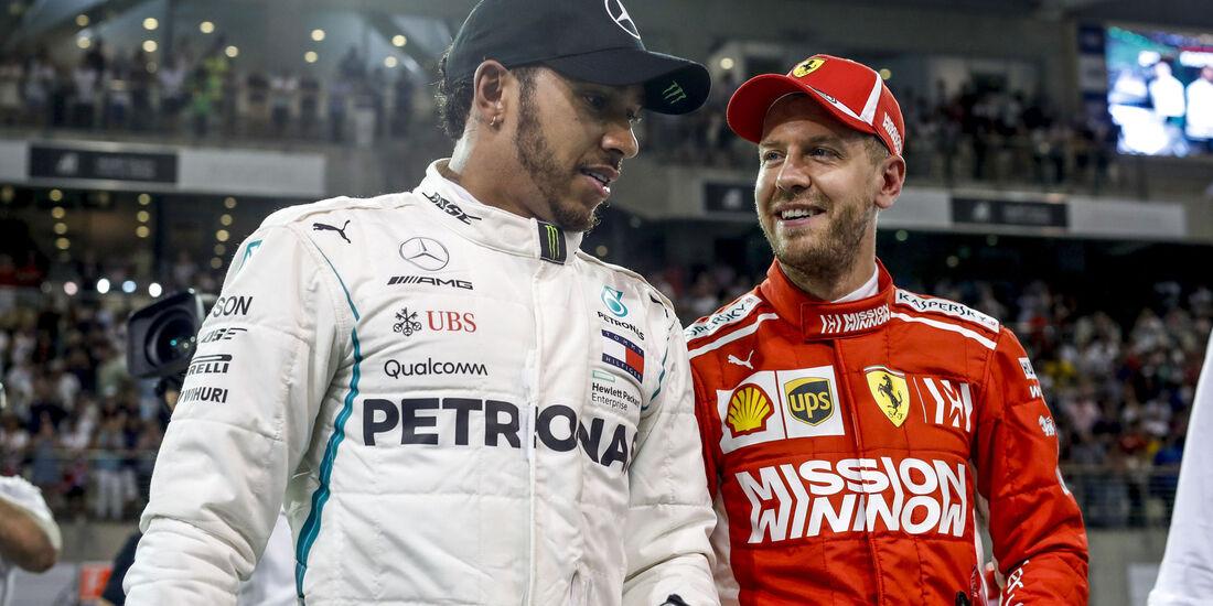 Lewis Hamilton - Sebastian Vettel - GP Abu Dhabi