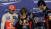 Lewis Hamilton Sebastian Vettel Mark Webber - Formel 1 - GP Abu Dhabi - 03. November 2012