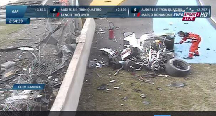 Loic Ducval - Audi Crash - Le Mans 2014