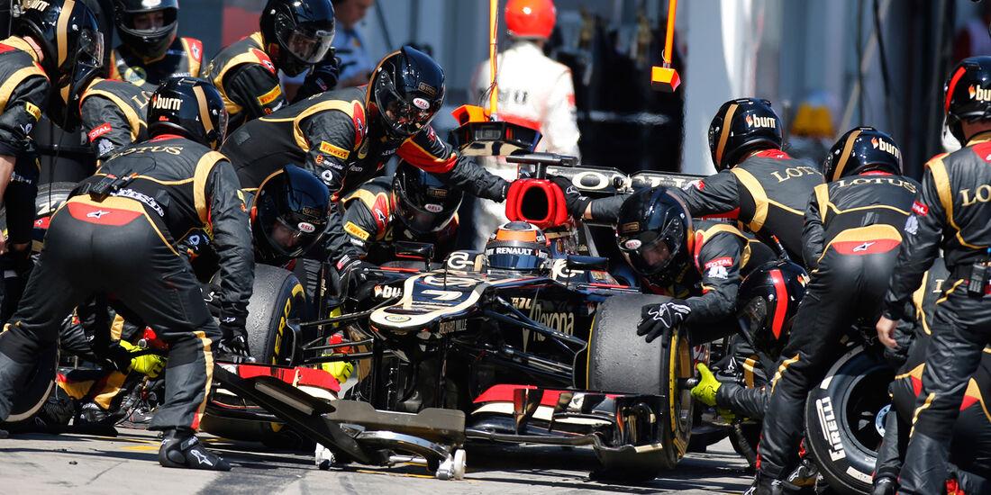 Lotus - Boxenstopp - Formel 1 2013