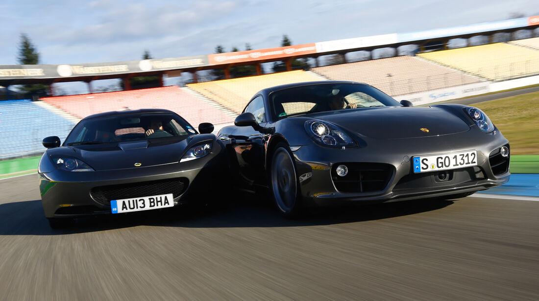 Lotus Evora S Sports Racer, Porsche Cayman S, Frontansicht