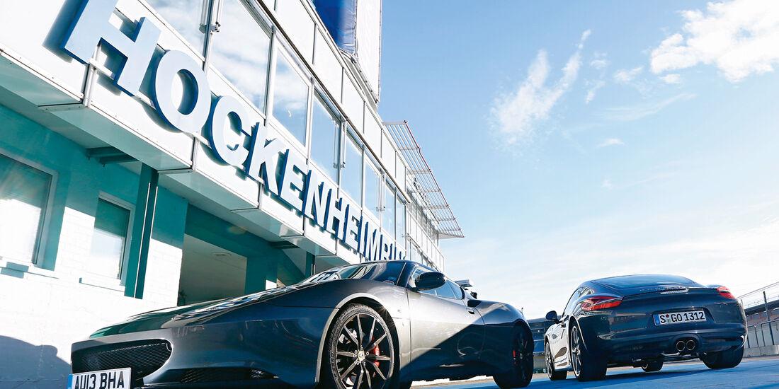 Lotus Evora S Sports Racer, Porsche Cayman S, Hockenheim