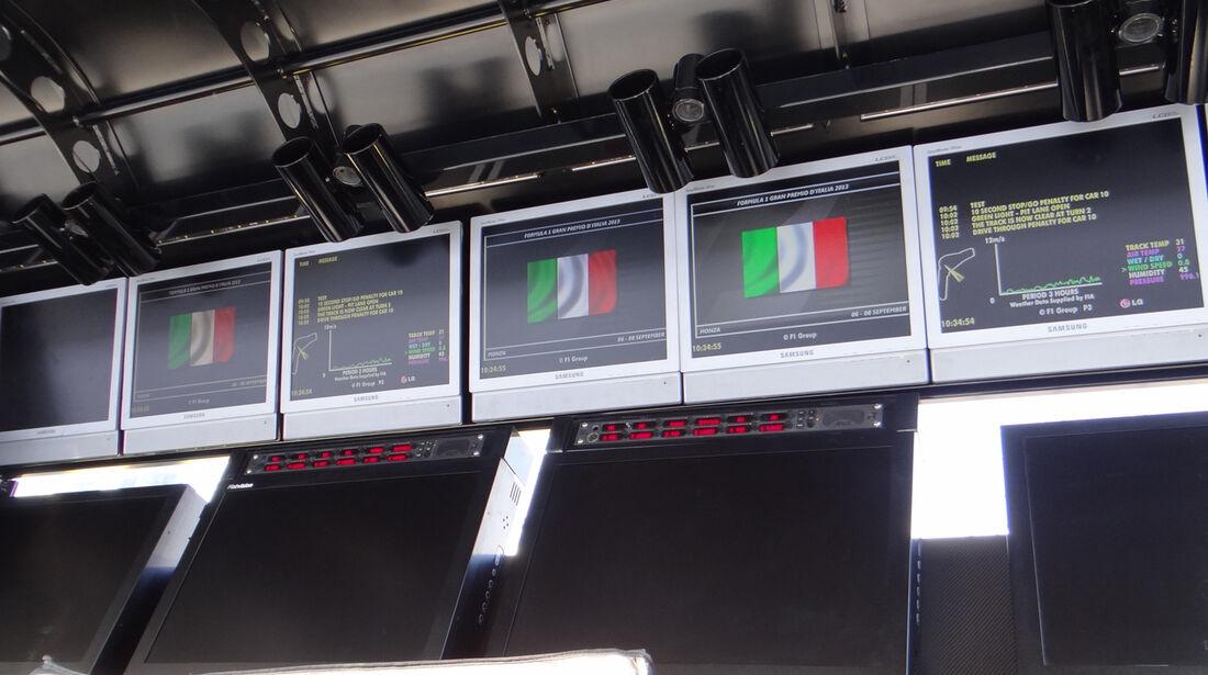 Lotus-Kommandostand - Formel 1 - GP Italien - Monza - 5. September 2013