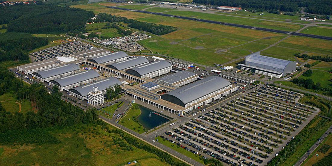 Luftaufnahme von der Messe Friedrichshafen - Klassikwelt Bodensee 2010