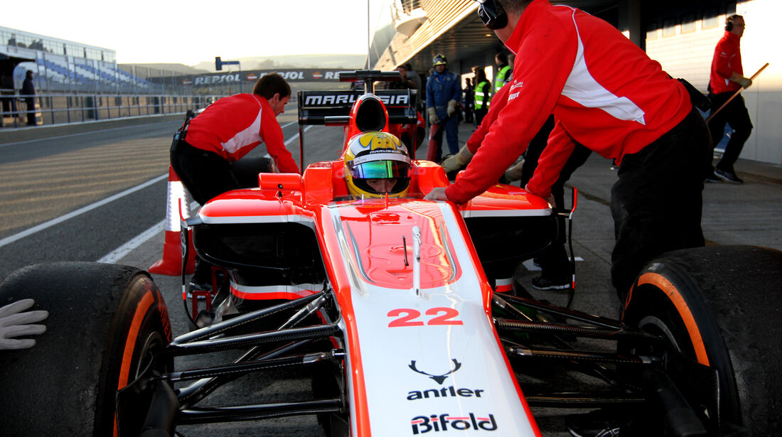Luiz Razia - Marussia - Formel 1 - Test - Jerez - 6. Februar 2013