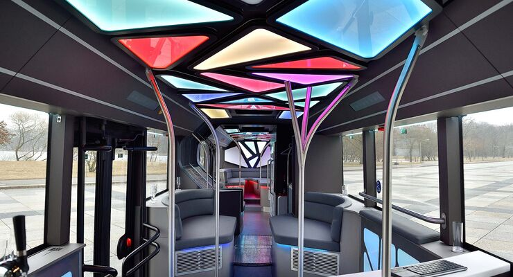 Man lion 39 s city partybus mit zapfanlage und k hlschr nken for Motor city party bus