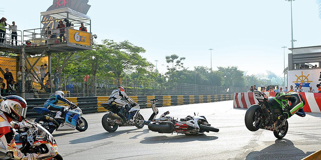 Macau Grand Prix, Unfall, Motorrad