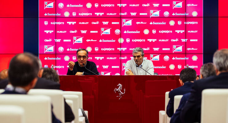 Marchionne - Arrivabene - Ferrari - Christmas Press Lunch - 14. Dezember 2015