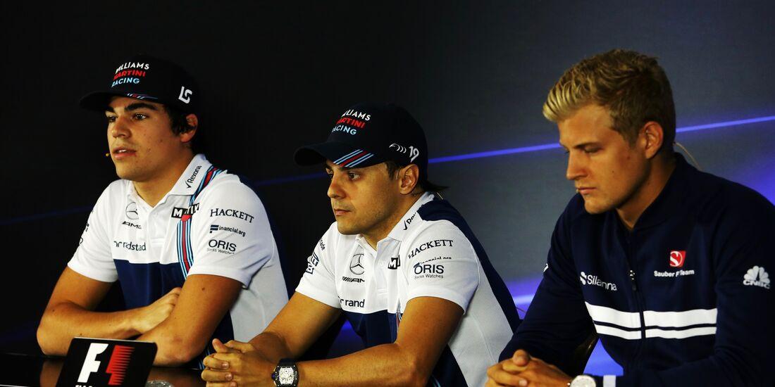 Marcus Ericsson - Lance Stroll - Felipe Massa - Formel 1 - GP Brasilien - 9. November 2017