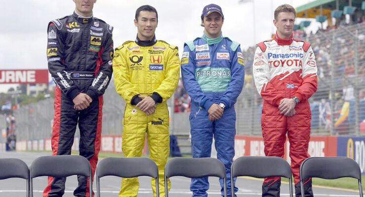 Mark Webber 2002 GP Australien McNish Salo Massa