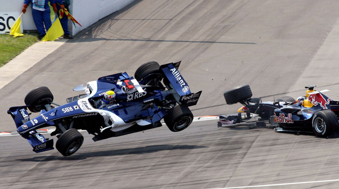 Mark Webber 2006 GP USA Crash