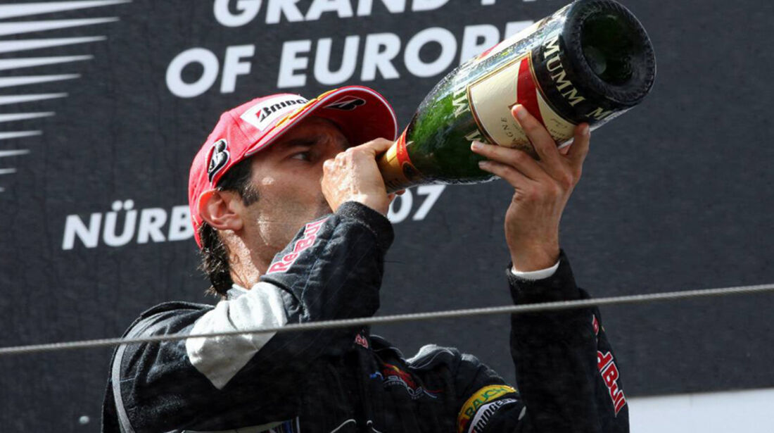 Mark Webber 2007 GP Europa Podium