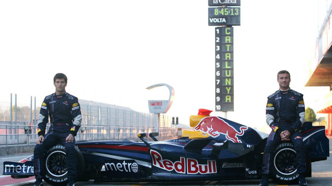 Mark Webber 2007 Red Bull David Coulthard Präsentation