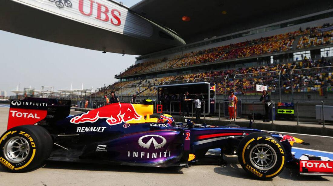 Mark Webber - Formel 1 - GP China -12. April 2013