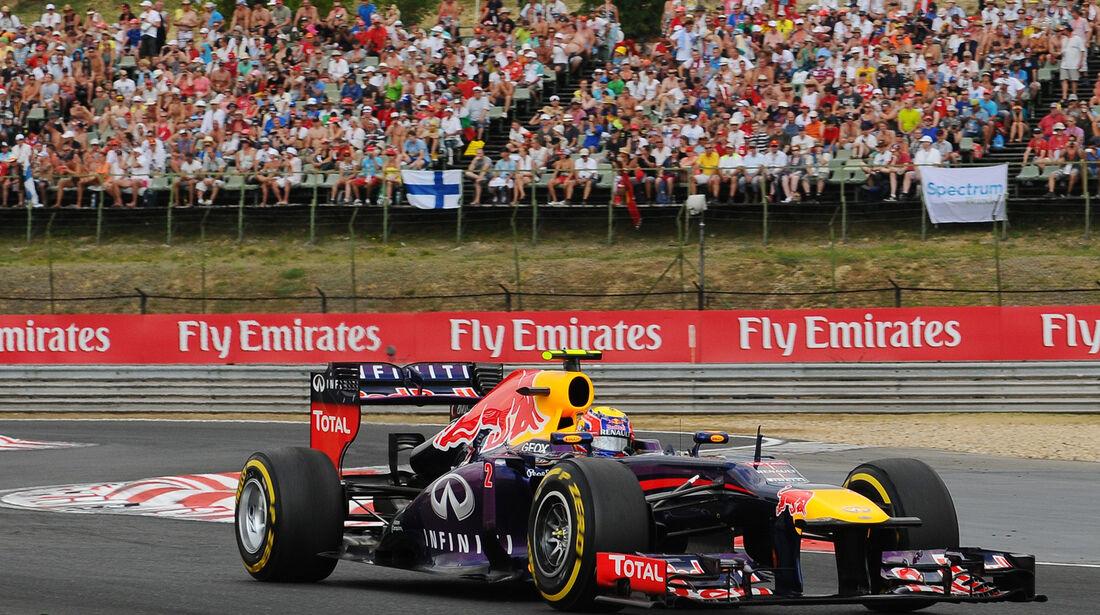 Mark Webber - Red Bull - Formel 1 - GP Ungarn - 27. Juli 2013