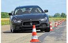 Maserati Ghibli Diesel, Frontansicht, Slalom