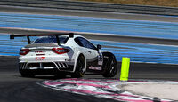 Maserati GranTurismo MC, Heckansicht, Kurvenfahrt