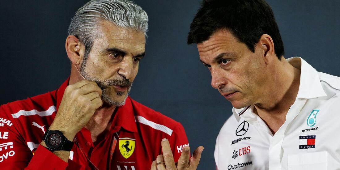 Maurizio Arrivabene & Toto Wolff - GP Abu Dhabi - Formel 1 - 23. November 2018