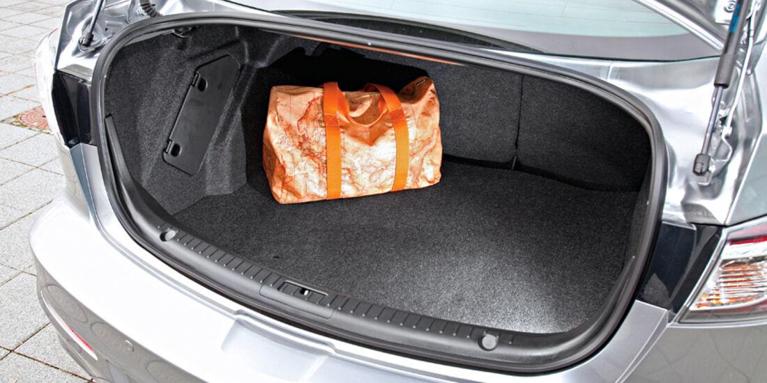 Mazda 3, Kofferraum