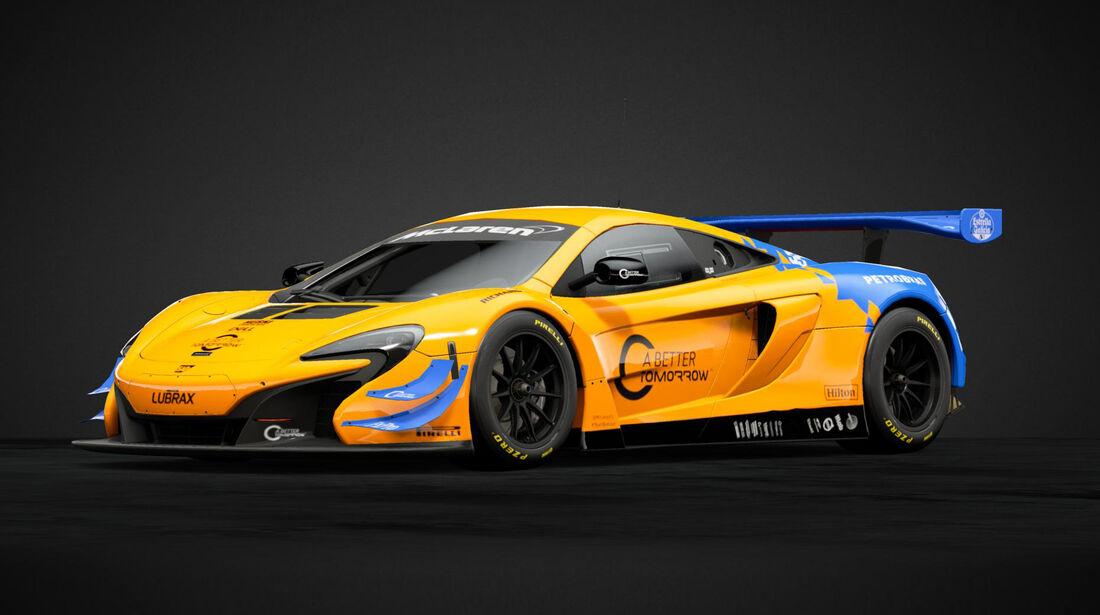 McLaren 650S GT3 im F1-Design - 2019