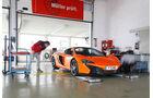 McLaren 650S Spider, Frontansicht, Werkstatt
