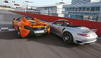 McLaren 650s Spider, Porsche 911 Turbo S Cabriolet, Heckansicht