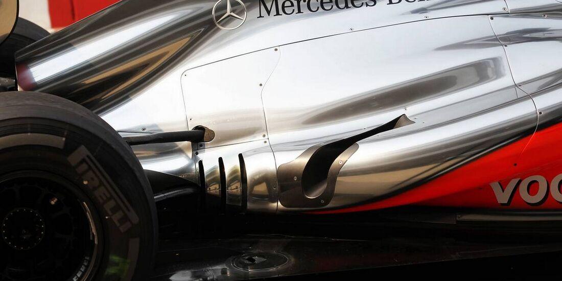 McLaren Auspuff - Formel 1 - GP Indien - 26. Oktober 2012