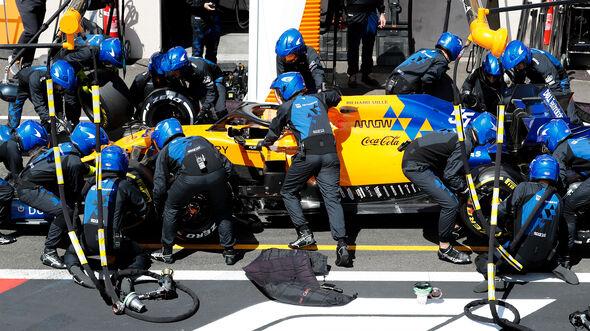 McLaren-Boxenstopp - Formel 1 - 2019