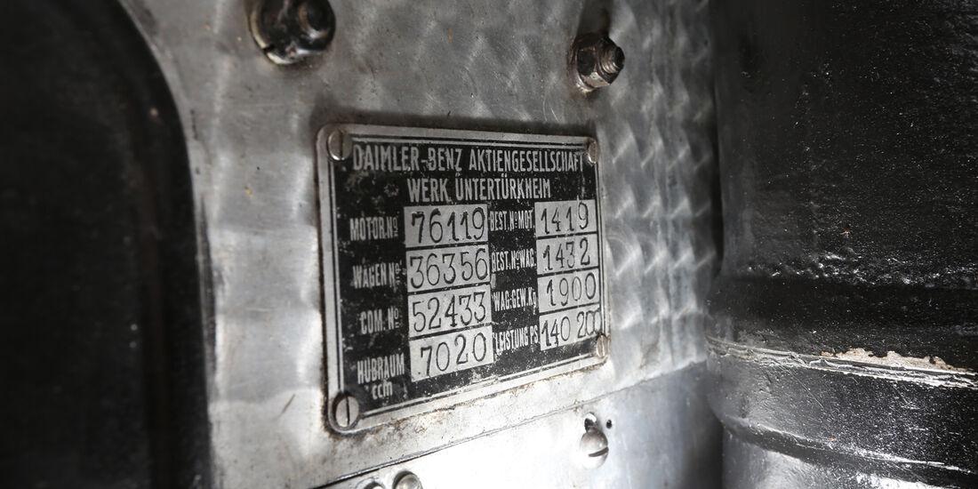 Mercedes 27/180/250 Typ 710 SS, Plakette