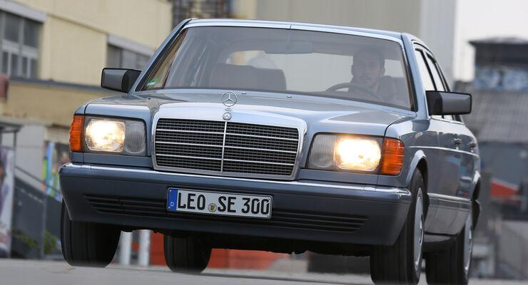 Mercedes 380 SE–560 SEL (W126), Frontansicht