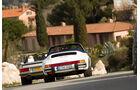Mercedes 500 SL, Porsche 911 Carrera Cabriolet, Heckansicht