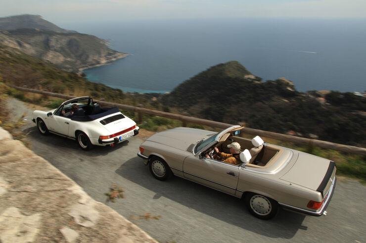 mercedes 500 sl und porsche 911 carrera cabriolet ab in. Black Bedroom Furniture Sets. Home Design Ideas