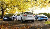 Mercedes A 180 CDI, Peugeot 308 e-HDi 115, VW Golf 1.6 Blue TDI