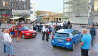Mercedes A-Klasse, Audi A3, BMW 1er, Volvo V40 im Vergleichstest