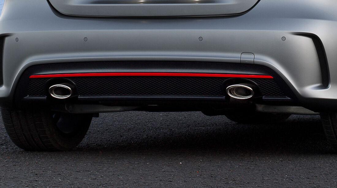 Mercedes A-Klasse, Auspuff